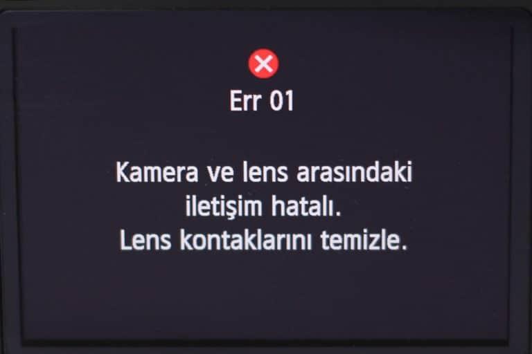 Canon EOS Hata Kodları Internal Error Codes