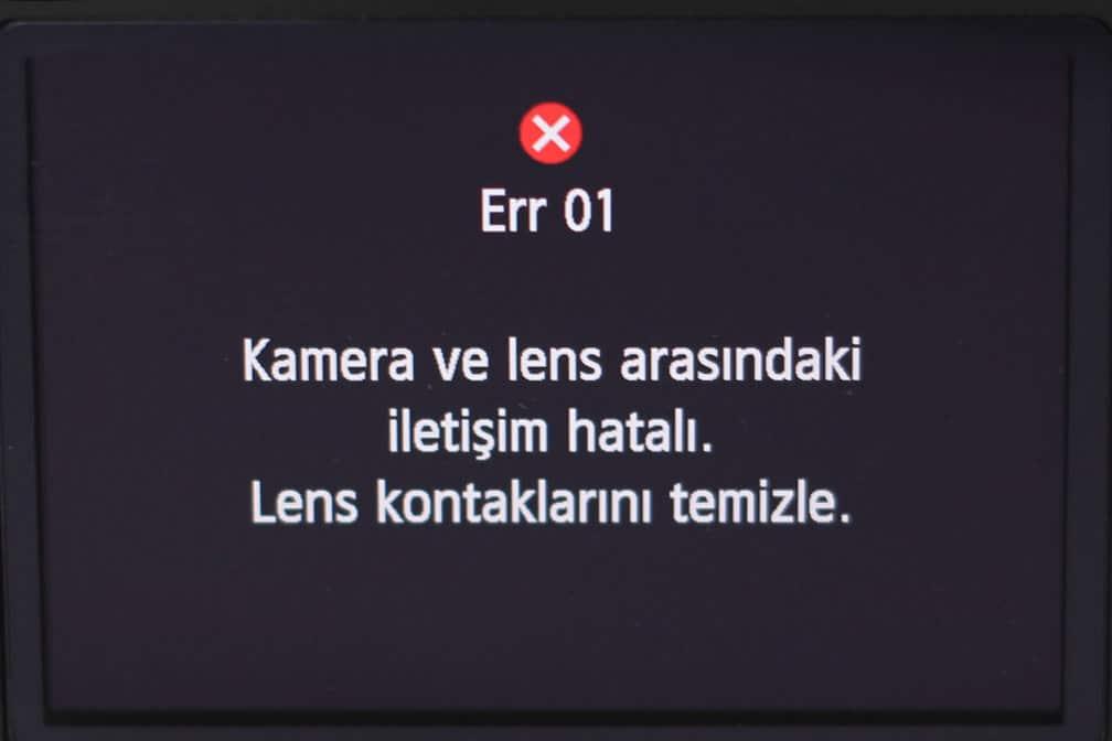 Canon EOS Hata Kodları